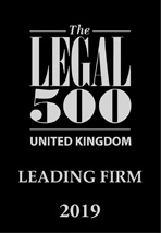 Legal 500 UK Leading Law Firm 2019