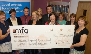 Generous law firm donate to Shropshire age charity